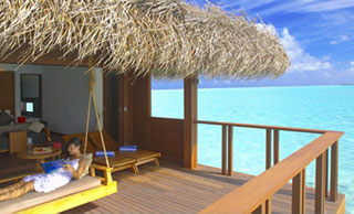 Water Villas are at the southern end of the island and are built on stilts over the lagoon. Each villa has either twin or Queen-size bed, a large patio with steps leading down to the ocean